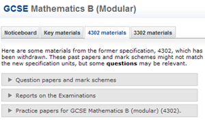 AQA Maths B 4302 Materials